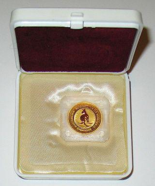 1999 Australian 1/4 Oz Gold Nugget Proof In Case photo
