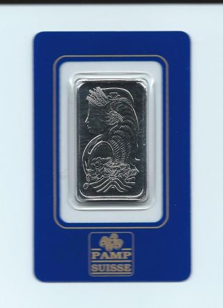1 Oz Palladium Pamp Suisse Bar -.  9995 Pure Fine Palladium photo