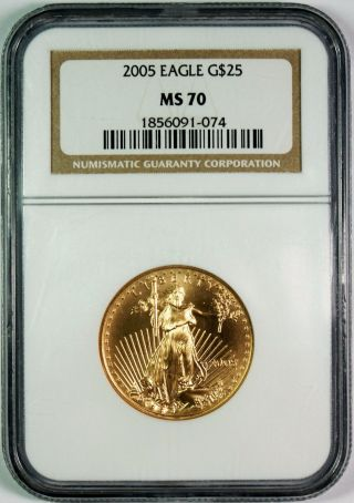 2005 $25 American Gold Eagle Ngc Ms70 Better Date photo