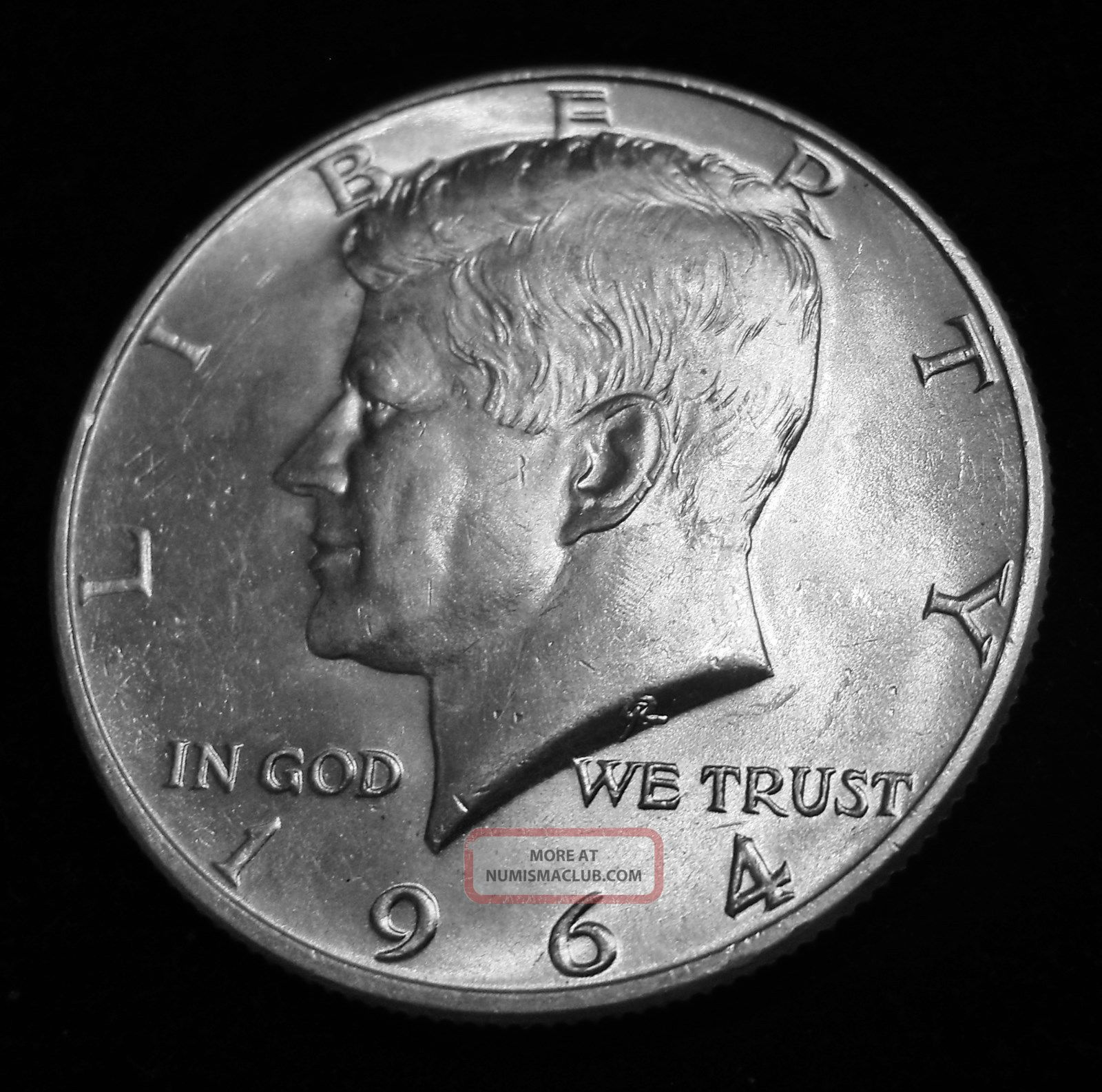 1964 - D Kennedy Half Dollar - 90 Silver Us - Bus Cir - Denver Kennedy (1964-Now) photo
