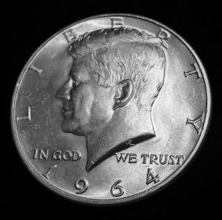 1964 - D Kennedy Half Dollar - 90 Silver Us - Bus Cir - Denver photo