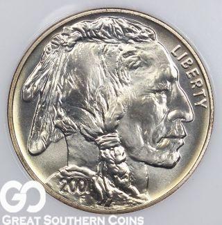 2001 - D American Eagle Silver Dollar,  Buffalo,  Better Date Bullion,  S/h photo