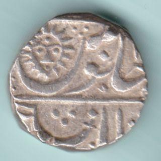 Indore State - Shahalam Ii - Shivaji Holkar - One Rupee - Rarest Silver Coin photo