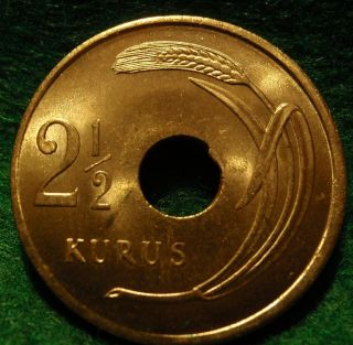 1948 Bu Turkey 2 1/2 Kurus Coin 2.  5 Kurus Km 885 Gem Bu Uncirculated photo
