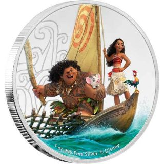 2017 Disney's Moana: 1oz Silver Proof Coin photo
