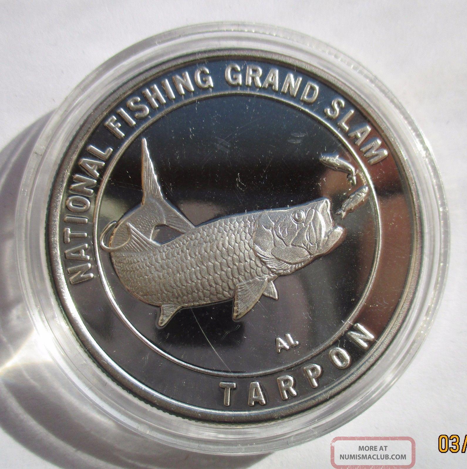 North America Fishing Club 1oz 999 Pure Silver Round