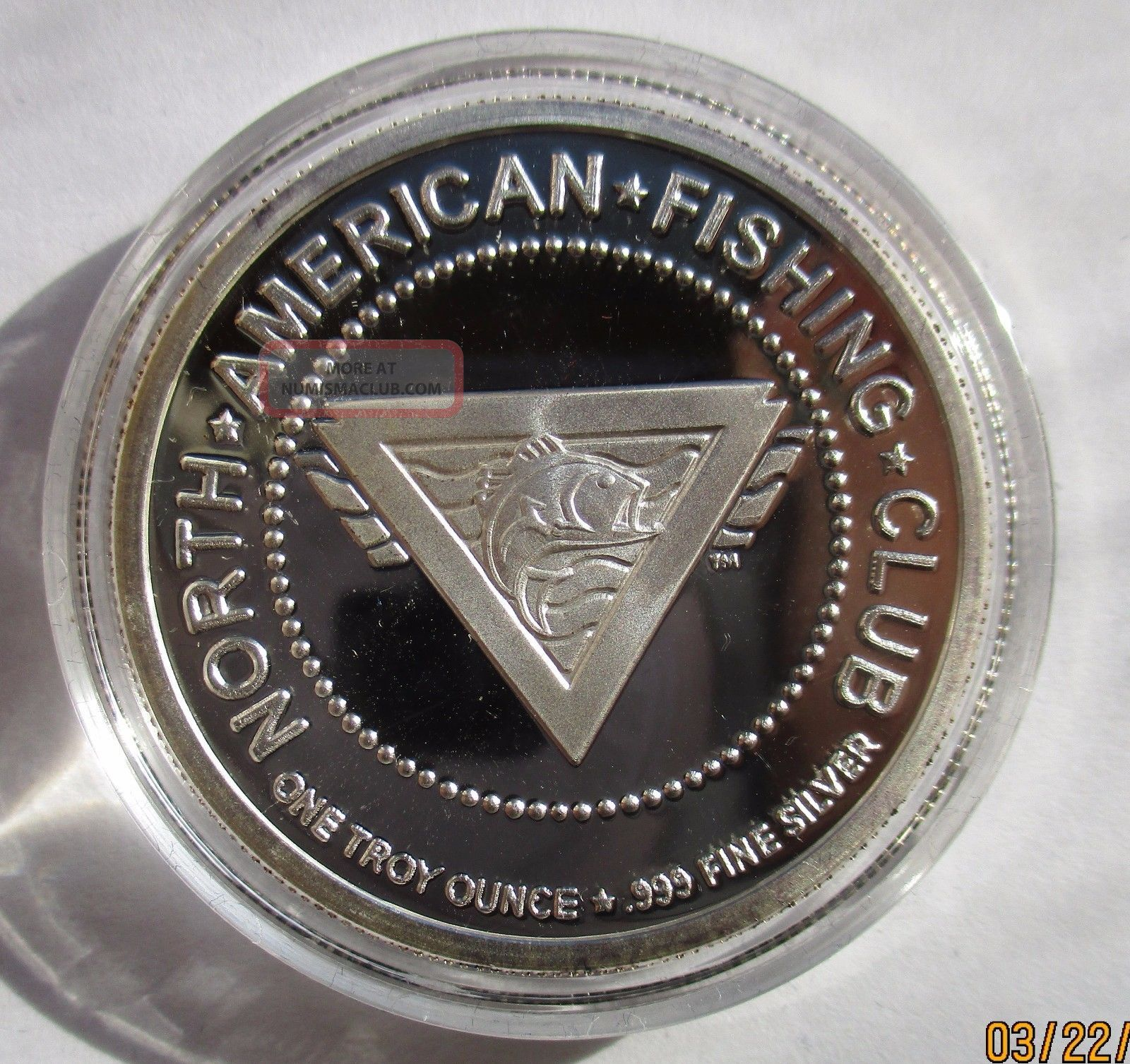 North America Fishing Club 1oz 999 Pure Silver Round