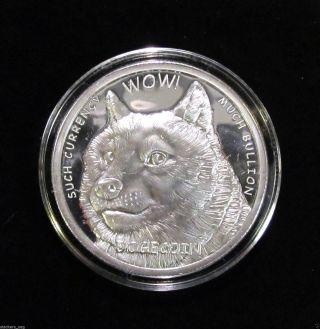 Commemorative Proof - Like 1oz.  999 Fine Silver Dogecoin Medallion,  Mintage 15,  000 photo