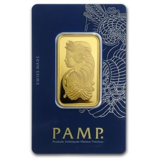 1 Oz Gold Bar - Pamp Suisse Lady Fortuna Veriscan In Assay photo