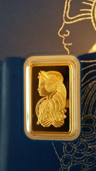 2.  5 - Gram Pamp Suisse Gold Bar.  9999 Fine photo