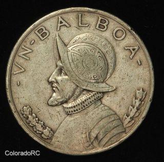 1931 Republic Of Panama Silver 1 Balboa - Very Fine, photo