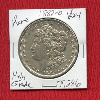 1882 O Morgan Silver Dollar 77286 Coin Us Rare Key Date Estate photo