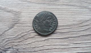 Constantine The Great Bronze Coin Thessalonica Ef photo