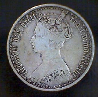1873 Great Britain 1 One Florin 2 Shillings.  925 Silver Coin Victoria Foreign photo