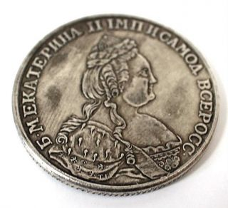 Russian Imperial Catherine Ii Silver Ruble - 1789 Coin. photo