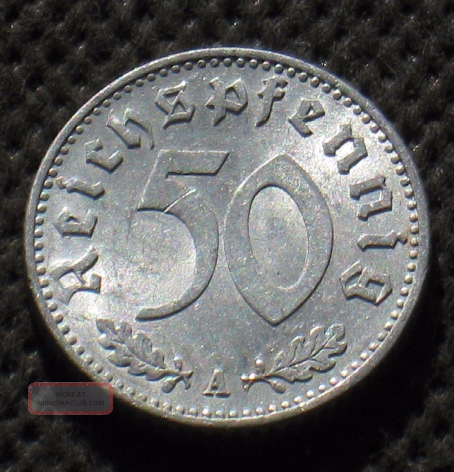 Old Coin Of Nazi Germany 50 Reichspfennig 1935 A Berlin (third Reich) - (1) Third Reich (1933-45) photo