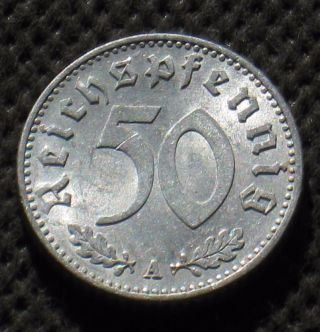 Old Coin Of Nazi Germany 50 Reichspfennig 1935 A Berlin (third Reich) - (1) photo