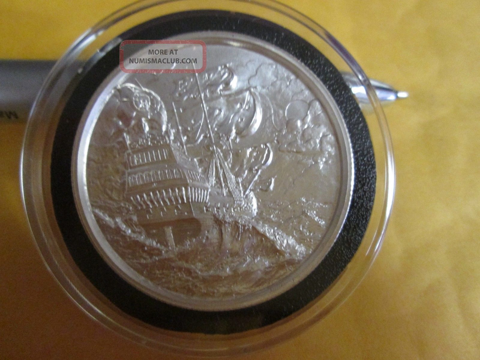 Privateer 2 Oz 999 Fine Silver High Relief First In Series