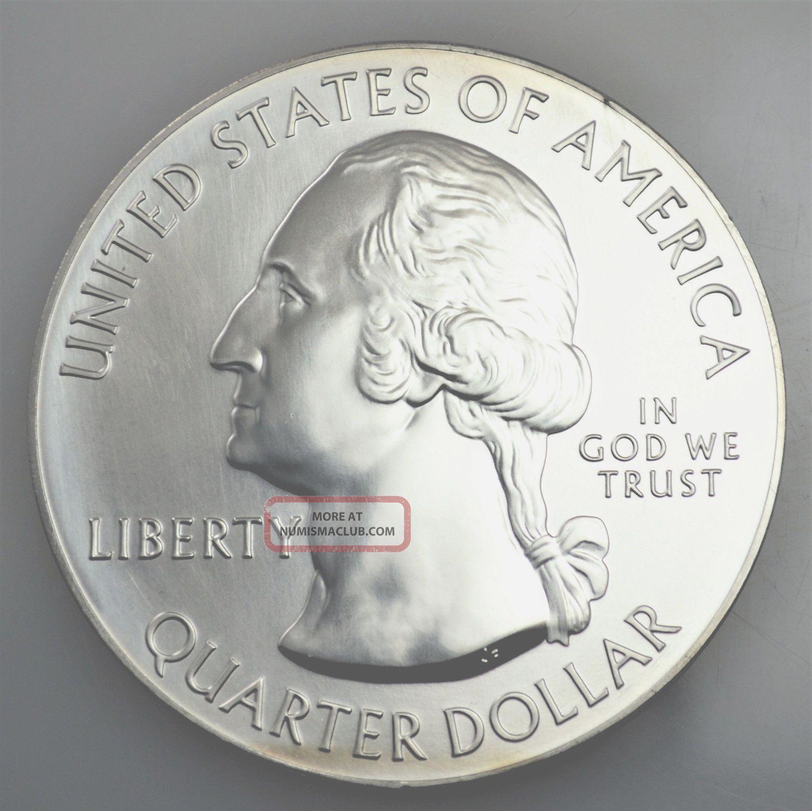 6896 5oz Fine Silver Giant State Quarter Round
