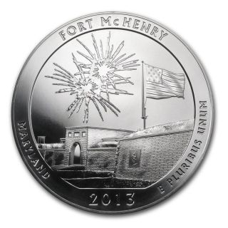 2013 - - - 5 Ounce America The - - Fort Mchenry (bu).  999 Fine photo