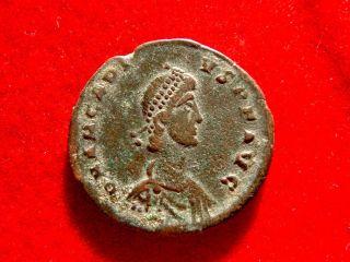 Lucernae Arcadius (395 - 408 Ad) Bronze Maiorina,  Nicomedia,  Gloria Romanorvm photo