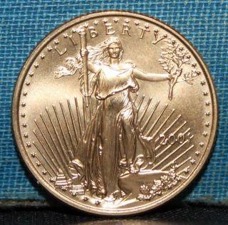 2001 $10 1/4 Oz.  Gold Eagle Choice Bu photo