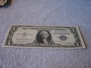1935g $1 Dollar Silver Certificate Old Us Currency Circulated photo