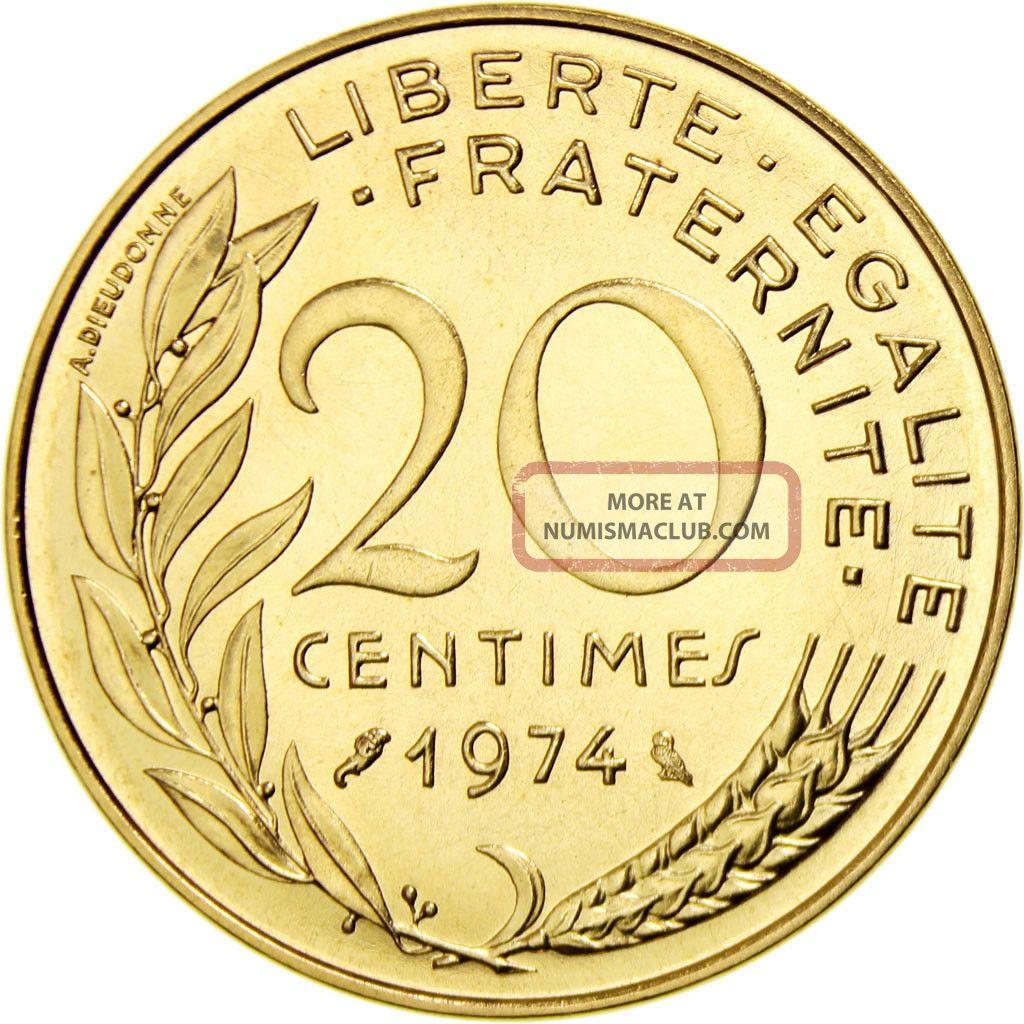 460344 France Marianne 20 Centimes 1974 Paris