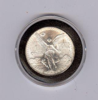 1985 Mexico 1 Oz.  999 Fine Silver Libertad - Uncirculated photo