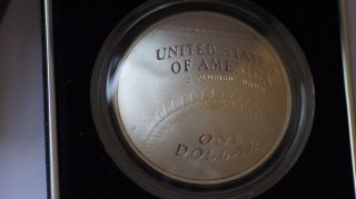2014 P Base Ball Hall Of Fame $1 Proof Silver Coin photo