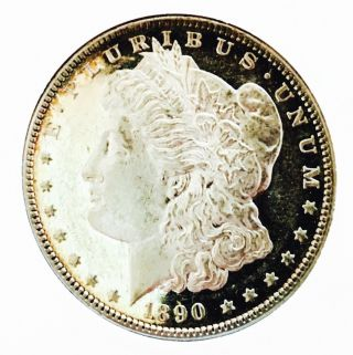 1890 P Morgan Monster Dmpl Insane Dmpl Ms,  Cameo Wow Coin Nr photo