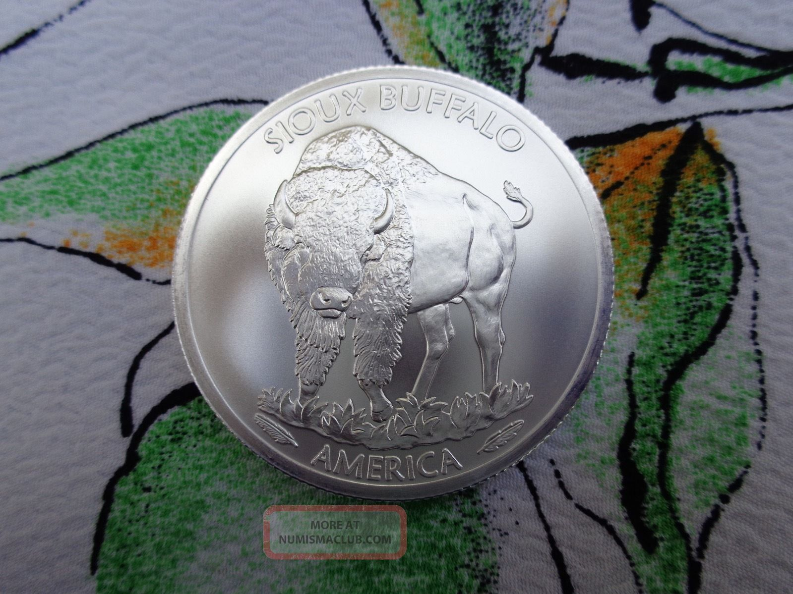 1 Oz 2015 Native American 1 Sioux Indian Buffalo Coin