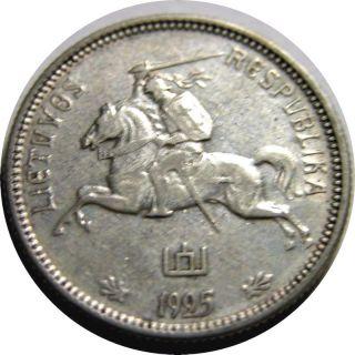 Elf Lithuania 2 Litu 1925 Knight Horse photo