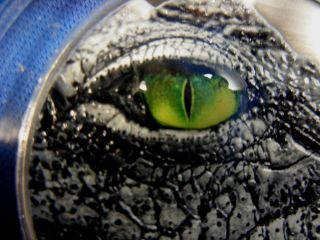 Congo Chinse Alligator With Natures Eyes 2016 2 Oz 999/1000 Silver Coa153 Of 999 photo