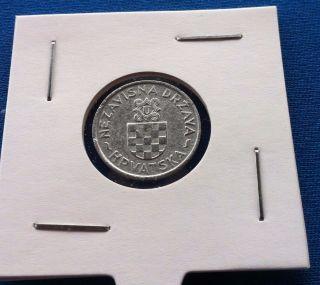 2 Kune 1941,  Zinc,  Ustasa Wwii Germany Italy Croatia Ndh - Rare Coin photo
