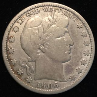 1906 - D Barber Half Dollar photo