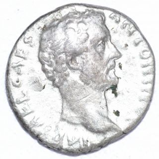 Authentic Emperor Antoninus Pius,  Coin Silver Denarius - Rev.  Anonna - A753 photo