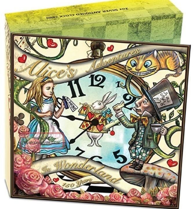 150th Anniversary Of Alice ' S Adventures In Wonderland 2015 2oz Silver Coin Australia photo