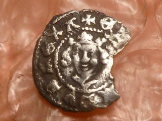 Edward I 1272 - 1307 Hammered Silver Farthing,  London 2 photo