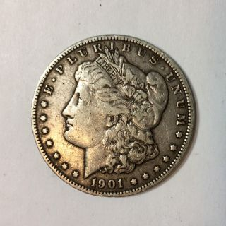 1901 O Morgan Silver Dollar $1 Coin Circulated photo