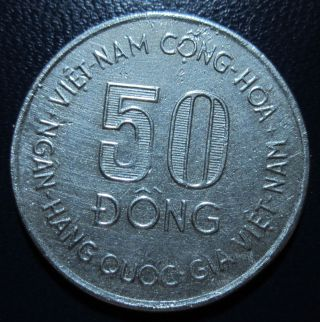 Vietnam South - Silver - 50 Dong Fao 1975s - As Image photo