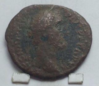 Ancient Roman Antoninus Pius Elephant Bronze Coin photo