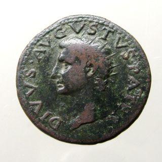 Augustus Caesar Copper As_minted By Tiberius_altar Dedicated To Augustus photo