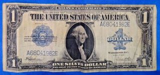 1923 $1 Silver Certificate Blue Seal Us Currency Bill Note photo