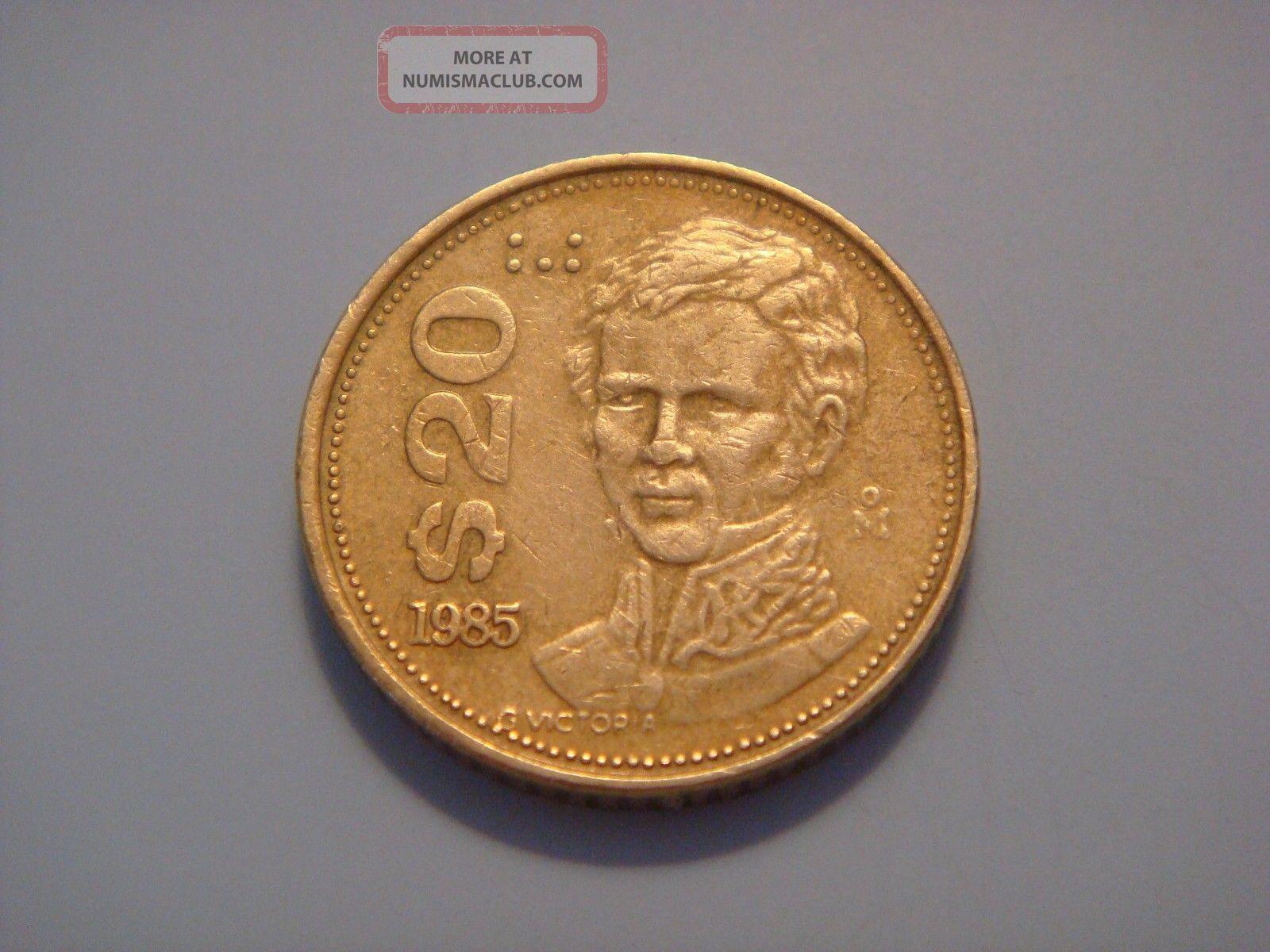 Mexico 20 Pesos,  1985 Mexico (1905-Now) photo