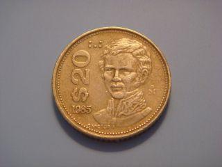 Mexico 20 Pesos,  1985 photo