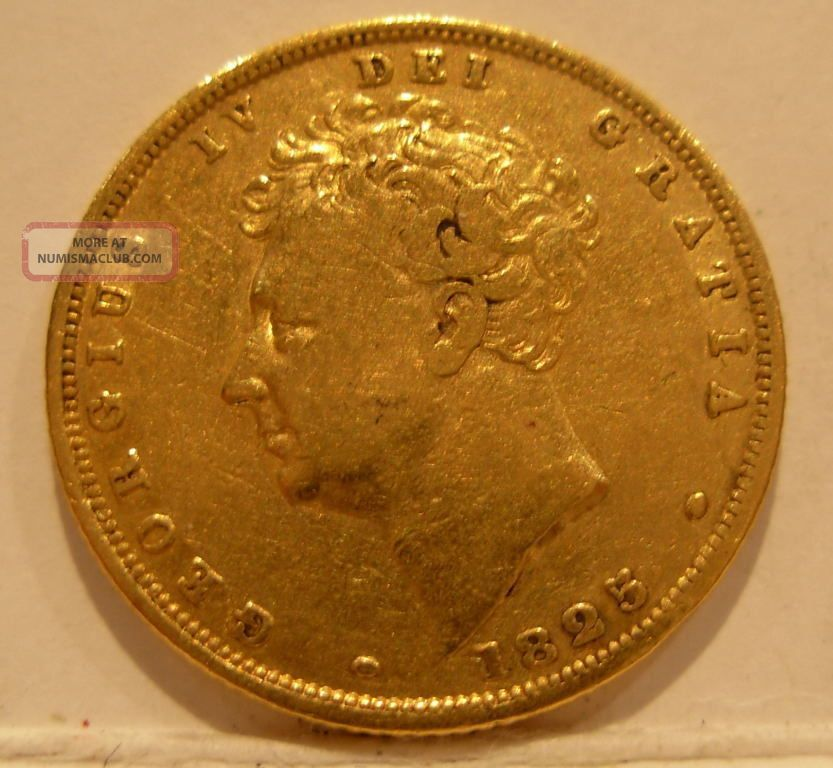 Great Britain 1825 Gold Sovereign Xf George 4 Coins: World photo