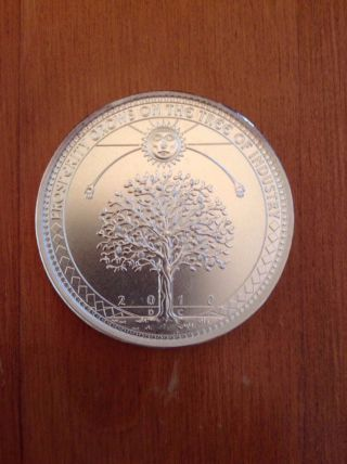 2010 Weed Money Hard Times Token By Daniel Carr Silver Coin Moonlight photo