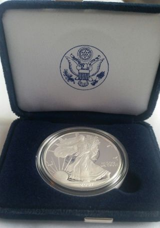 2007 American Eagle One Once Silver Proof Coin photo