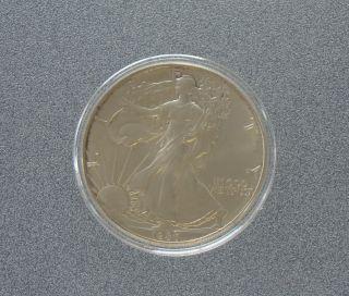 1986 Silver American Eagle 1 Oz.  In Airtite Capsule - Item 4891 photo